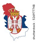 vector map serbia country | Shutterstock .eps vector #526977748