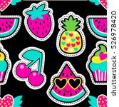 fashion patch badges in cool... | Shutterstock .eps vector #526978420