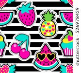 fashion patch badges in cool... | Shutterstock .eps vector #526978429