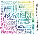 cities in the world  word cloud ... | Shutterstock .eps vector #526978528
