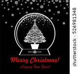 greeting black and white card... | Shutterstock .eps vector #526981348