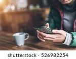 using cellphone with copyspace... | Shutterstock . vector #526982254