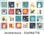 vector advent calendar.... | Shutterstock .eps vector #526986778
