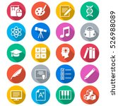 education flat color icons | Shutterstock .eps vector #526988089