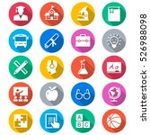 education flat color icons | Shutterstock .eps vector #526988098