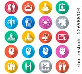 business flat color icons | Shutterstock .eps vector #526988104