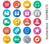 e commerce flat color icons | Shutterstock .eps vector #526988173