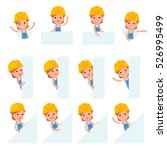 set of smart and cute character ... | Shutterstock .eps vector #526995499