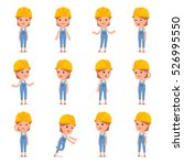 set of smart and cute character ... | Shutterstock .eps vector #526995550