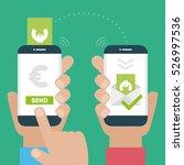people sending and receiving... | Shutterstock .eps vector #526997536