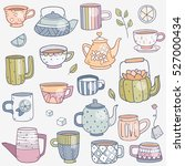 vector set collection of cute... | Shutterstock .eps vector #527000434