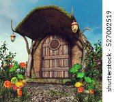 Fantasy Tree Trunk Cottage Wit...