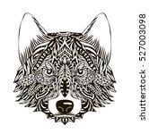 ornamental vintage wolf... | Shutterstock .eps vector #527003098
