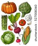 Set Of Colored Vegetables. ...