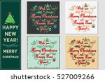 wish you a merry christmas and... | Shutterstock . vector #527009266