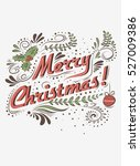 typographical greeting card.... | Shutterstock . vector #527009386