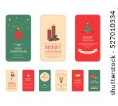set of merry christmas tags and ... | Shutterstock .eps vector #527010334
