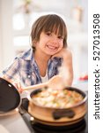 cute adorable little boy in the ...   Shutterstock . vector #527013508