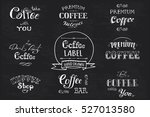 set coffee label banner or... | Shutterstock .eps vector #527013580