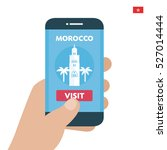 buy ticket. morocco travel.... | Shutterstock .eps vector #527014444
