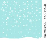 falling snow. vector... | Shutterstock .eps vector #527014660