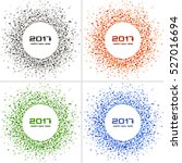 set of  bright colorful new... | Shutterstock .eps vector #527016694
