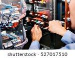 electrician near the low... | Shutterstock . vector #527017510