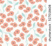 seamless pattern with flowers... | Shutterstock .eps vector #527018608