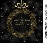 new year and merry christmas... | Shutterstock .eps vector #527021758