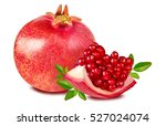 pomegranate isolated on white... | Shutterstock . vector #527024074