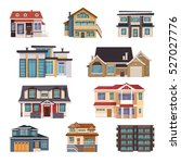 suburban houses collection of... | Shutterstock .eps vector #527027776