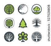 vector trees with stylized... | Shutterstock .eps vector #527028808