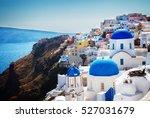 oia  traditional greek village... | Shutterstock . vector #527031679