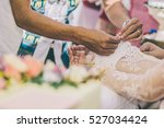 the traditional thai wedding... | Shutterstock . vector #527034424
