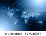 best internet concept of global ... | Shutterstock . vector #527035054