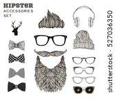hipster man accessories ... | Shutterstock .eps vector #527036350