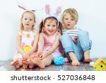 Three Smiling Preschoolers Wit...