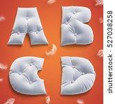3d render soft pillow letters... | Shutterstock . vector #527038258