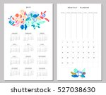calendar 2017 and weekly... | Shutterstock .eps vector #527038630