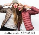 close up fashion portrait of... | Shutterstock . vector #527041174