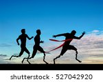 invalids runners with... | Shutterstock . vector #527042920