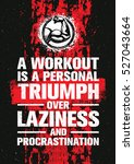 a workout is a personal triumph ... | Shutterstock .eps vector #527043664