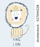 king lion cartoon  king of the... | Shutterstock .eps vector #527044228
