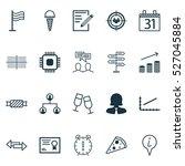 set of 20 universal editable... | Shutterstock .eps vector #527045884