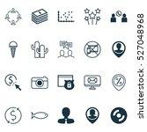 set of 20 universal editable... | Shutterstock .eps vector #527048968