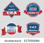 american made in usa retro... | Shutterstock .eps vector #527050084