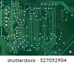 detail of an electronic printed ... | Shutterstock . vector #527052904