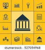 set of 12 universal editable... | Shutterstock .eps vector #527054968