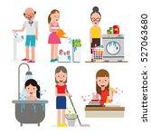 save water set | Shutterstock .eps vector #527063680