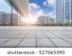 empty floor with modern... | Shutterstock . vector #527065390